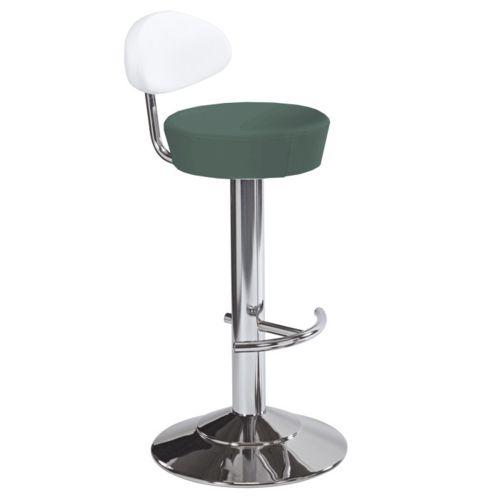Kovové barové židle s koženým sedákem a opěrkou
