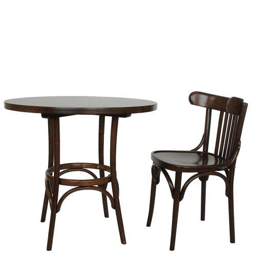 Dřevěný bistro stůl