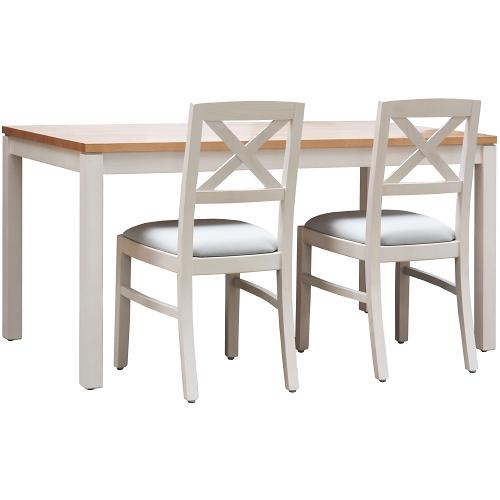 Dřevěné stoly BERTO-BCMT 128 až 168 masivní bukové dřevo