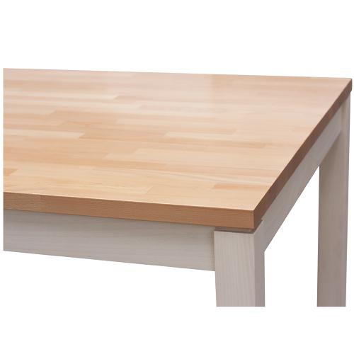 Masivní dvoubarevné stoly