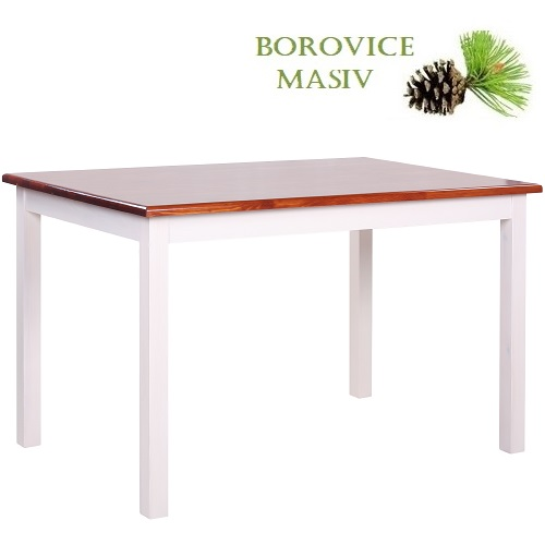 Dřevěné stoly ROBBY 128U borovicové jídelní a restaurační stoly
