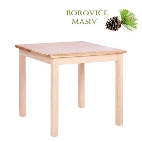 Dřevěné stoly ROBBY 88U borovice masiv jídelní a restaurační stoly