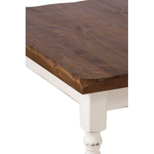 Atoly Antik Look Vintage bílá masivní stoly