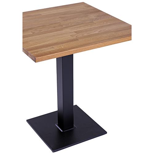 Kovové bistro stoly dubová deska