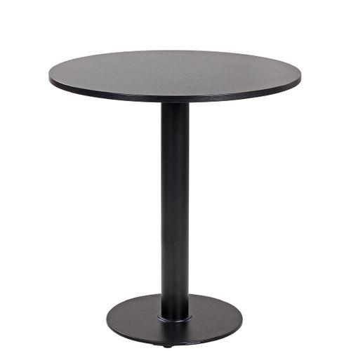 Kulaté stoly pro bistra ROMA40 D60-70/18 mm černá barva