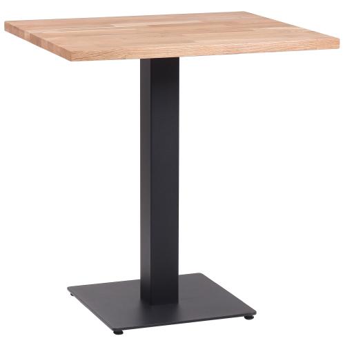 Kovové restaurační stoly masivní dub