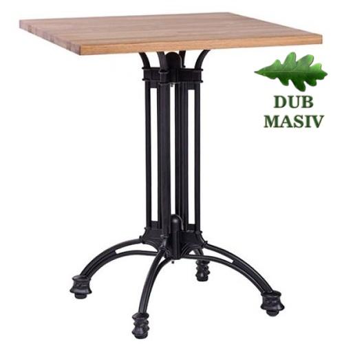 Kovové stoly dubová deska