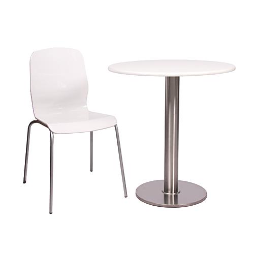 Kovové stoly a židle