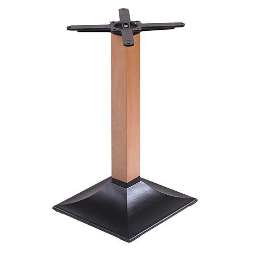 Kovová stolová podnož s dřevěnou nohou