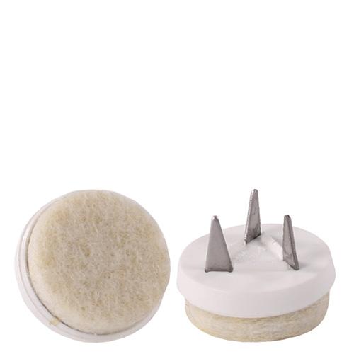 Podlahový kluzák PMR bílý filcový (set 4 ks)