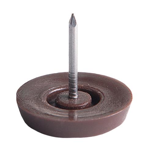 Podlahový kluzák plastový hnědý set 4 ks