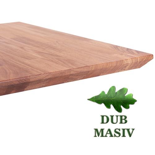 Desky ke stolu masivní dub 27 mm se zkosenou hranou