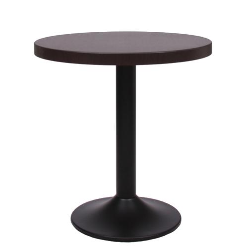 Kovový stůl do restaurace na centrální noze