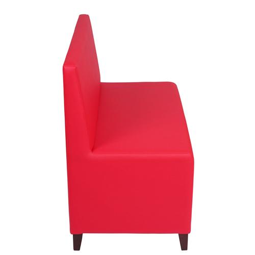 Restaurační sedací lavice MICA 2 RL v červené barvě