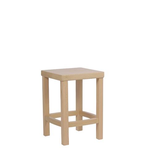 Dřevěný sedací taburet