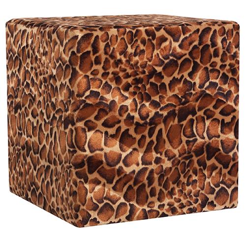 Sedací kostky s látkou safari