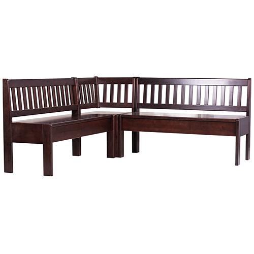 Dřevěné jídelní rohové lavice