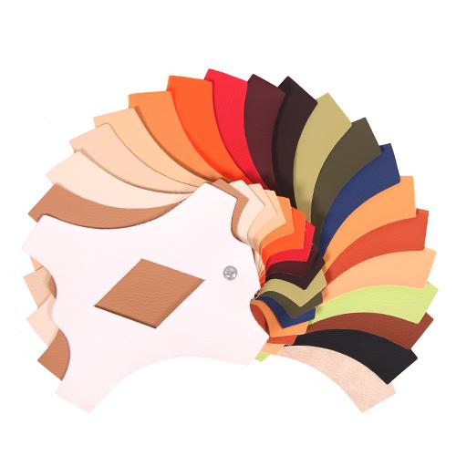 barevná paleta textilní koženka