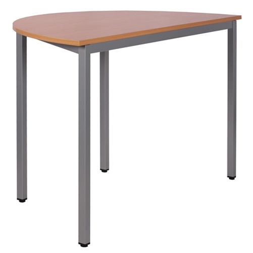 Půlkulatý stůl kovový
