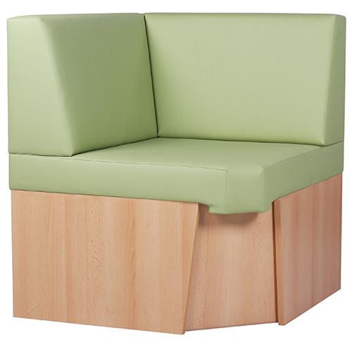 Rohové čalúnené lavice