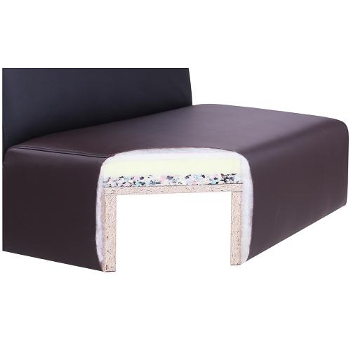 Čalouněné sedáky u lavice MADERA