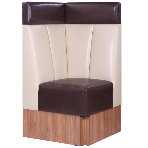 Čalouněné lavice do restaurace rohový díl